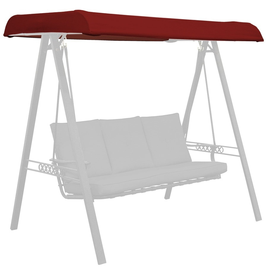 Arden Outdoor Red 3-Person Replacement Top for Porch Swing or Glider