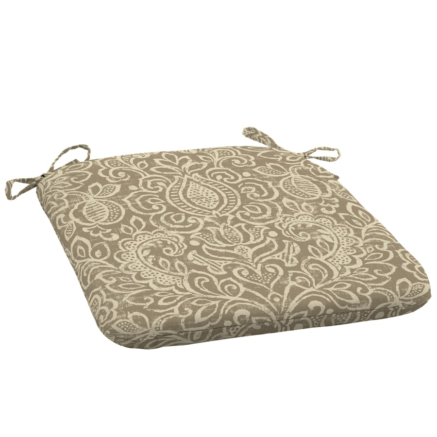 Garden Treasures Neutral Stencil Damask Seat Pad for Universal