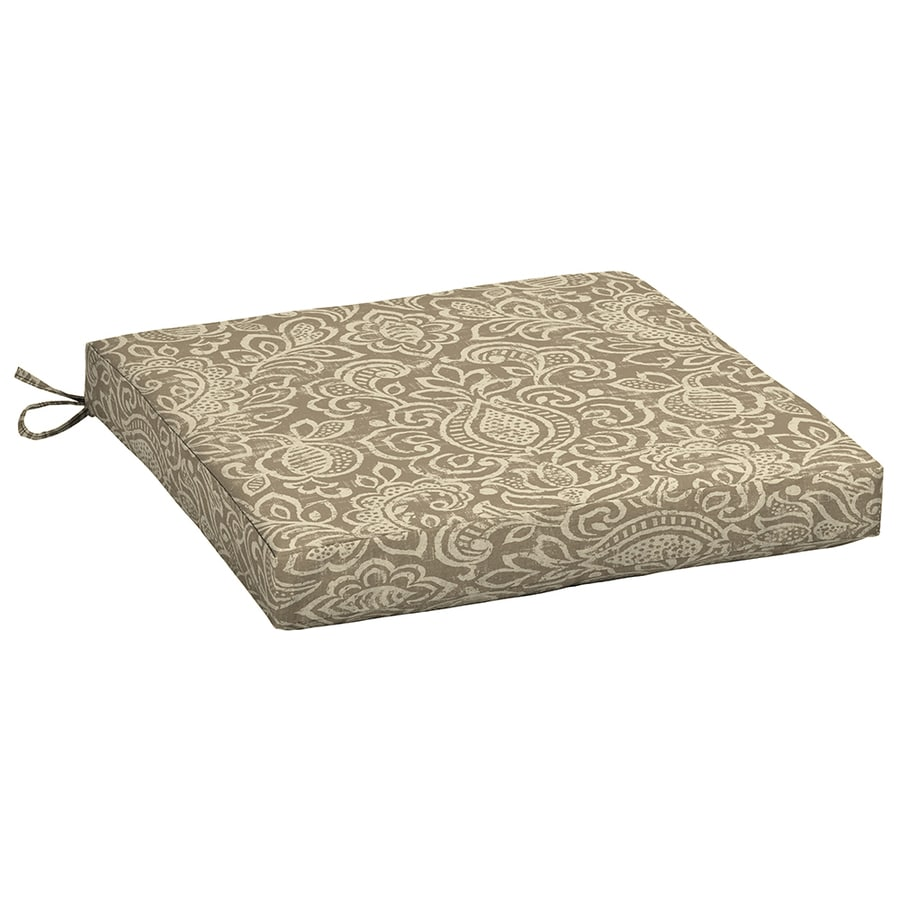 Garden Treasures Neutral Stencil Neutral Stencil Paisley Seat Pad For Universal