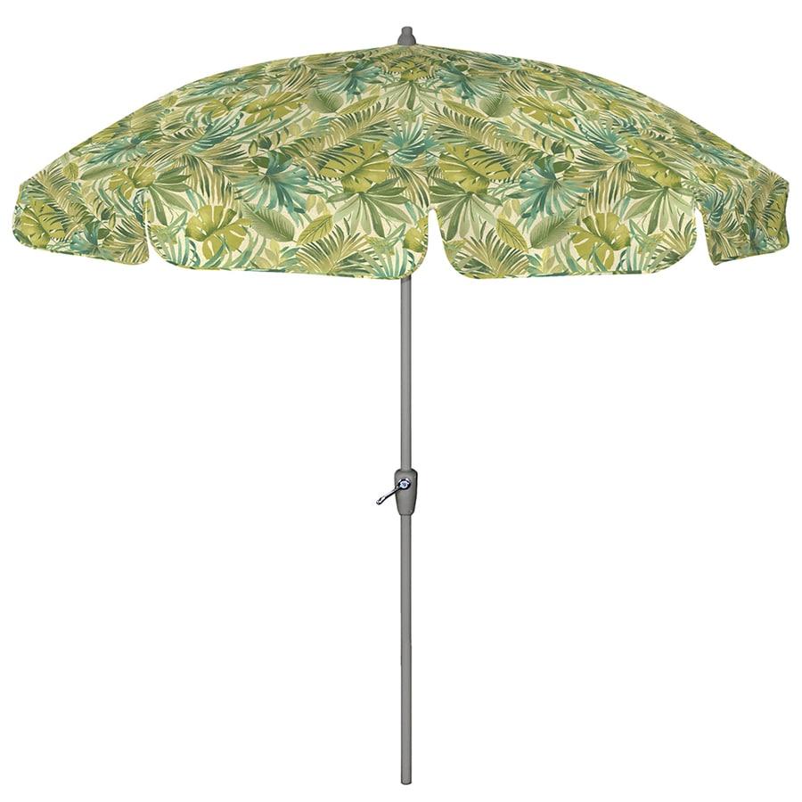 Arden Outdoor Round Green Patio Umbrella With Tilt And Crank (Common: 7.5