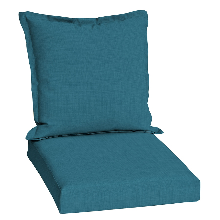 shop garden treasures blue flame solid deep seat patio chair cushion for deep seat chair at. Black Bedroom Furniture Sets. Home Design Ideas