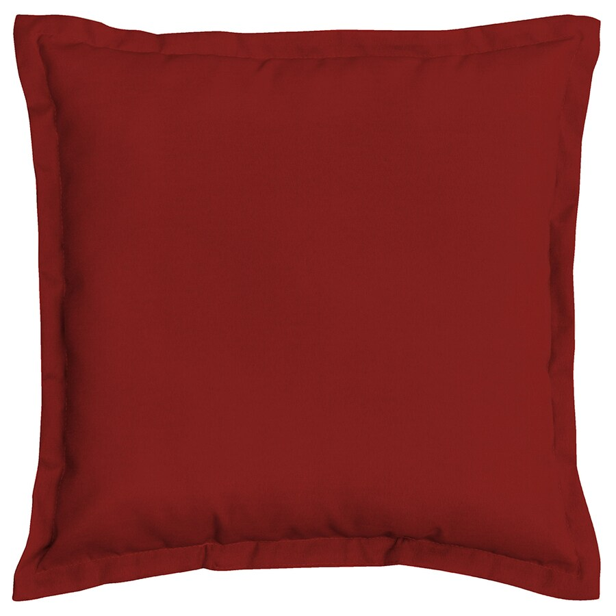 Shop Garden Treasures Red Red Solid Square Outdoor Decorative Pillow at Lowes.com