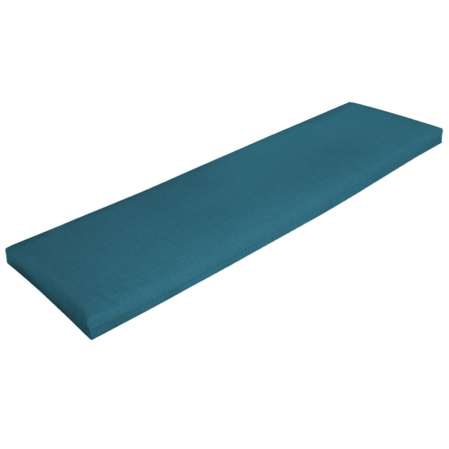 Shop Garden Treasures Blue Flame Solid Solid Patio Bench Cushion For Patio Bench At
