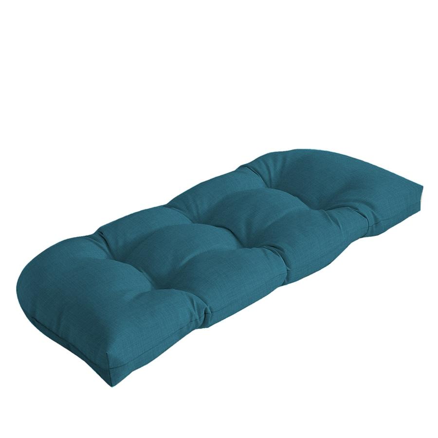 Shop garden treasures blue flame solid patio loveseat cushion for loveseat at Patio loveseat cushion