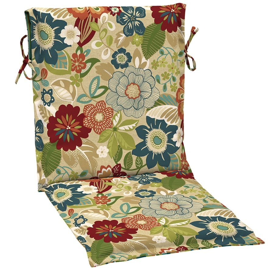 Garden Treasures Bloomery Bloomery Floral Cushion For Sling Chair