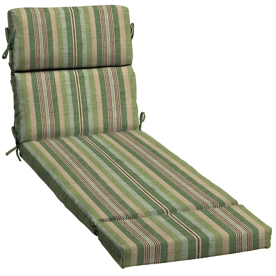 Shop allen roth multi eucalyptus stripe standard patio for Allen roth steel patio chaise lounge