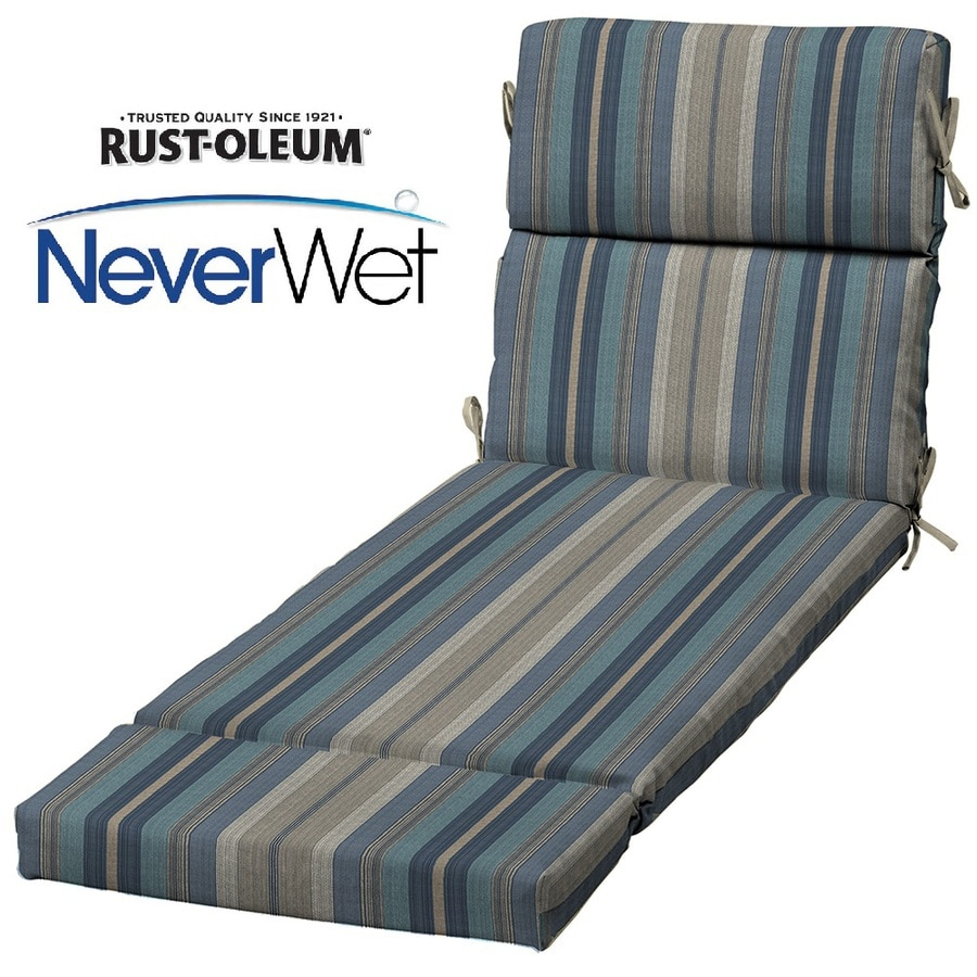 Shop allen roth stripe blue stripe blue stripe standard for Blue and white striped chaise lounge cushions