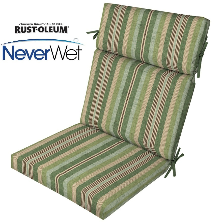 allen + roth Multi Eucalyptus Multi Eucalyptus Stripe High Back Patio Chair Cushion for High-back Chair
