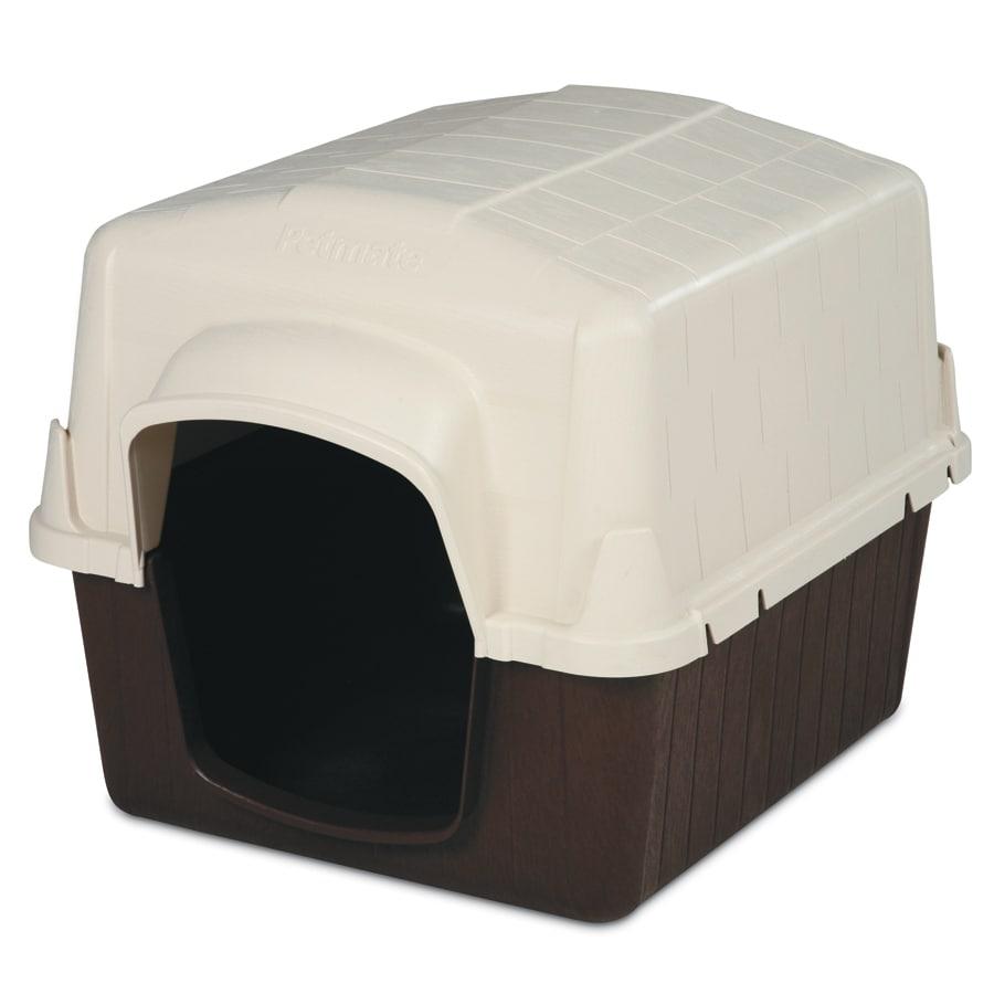 Dog house of green valley - Aspen Pet 2 5 Ft X 2 41 Ft X 3 16 Ft Plastic Dog House