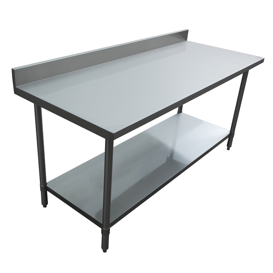 Shop excalibur stainless steel prep tables at - Steel kitchen tables ...