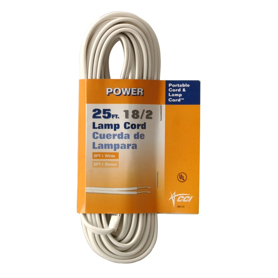 Coleman Cable 25-ft 18-AWG Stranded Lamp Wire (By-the-Roll)