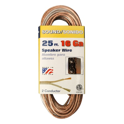 Coleman Cable 25-ft 16 AWG Flat Speaker Wire at Lowes.com on