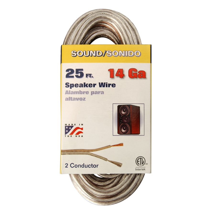 Shop Coleman Cable 25-ft 14 AWG Flat Speaker Wire at Lowes.com