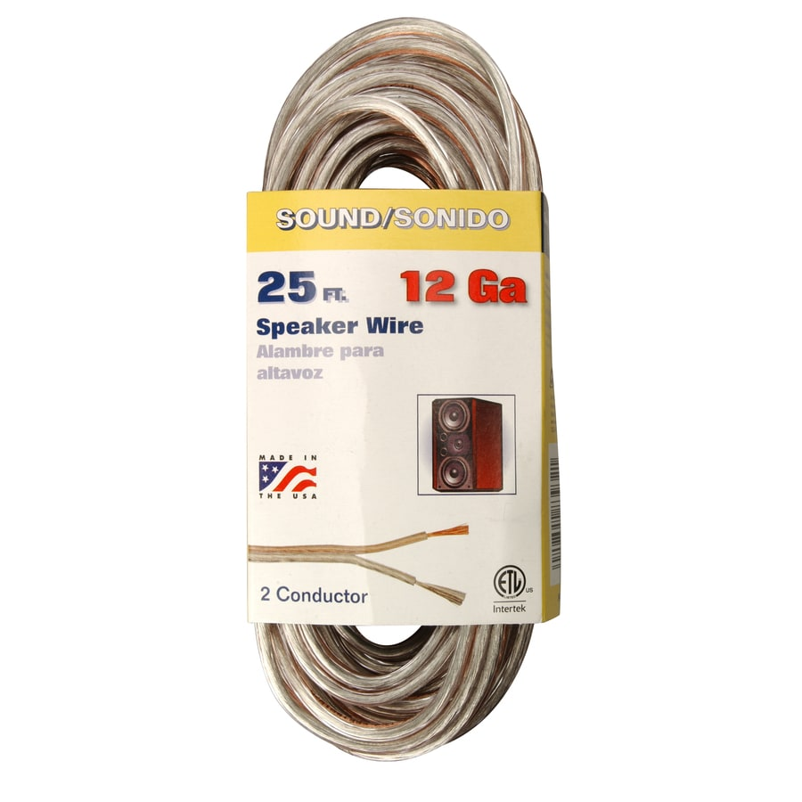 Shop Coleman Cable 25-ft 12-AWG Flat Speaker Wire (By-The-Roll) at ...
