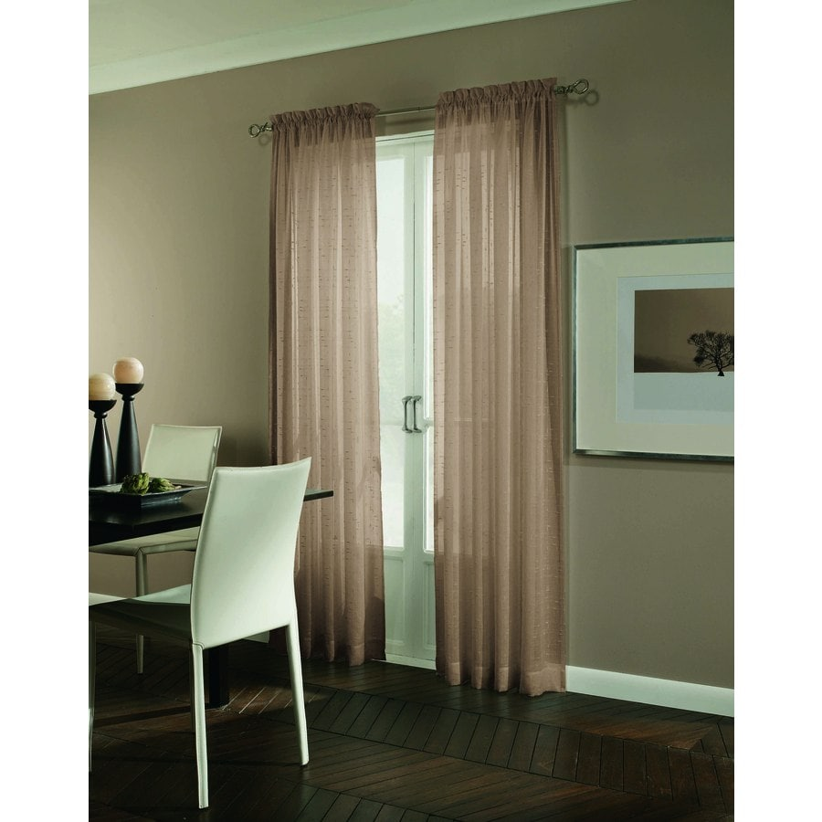Allen + Roth Williamston 84 In Linen Polyester Rod Pocket Light Filtering  Single Curtain Panel  Allen Roth Curtains
