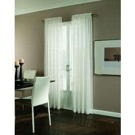 Allen + Roth Williamston 84 In Polyester Rod Pocket Light Filtering Single  Curtain Panel