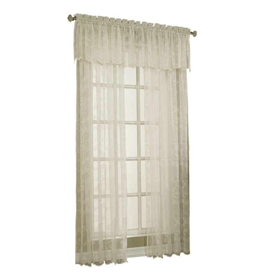 Style Selections Cecelia 17 In Ivory Polyester Rod Pocket Sheer Valance