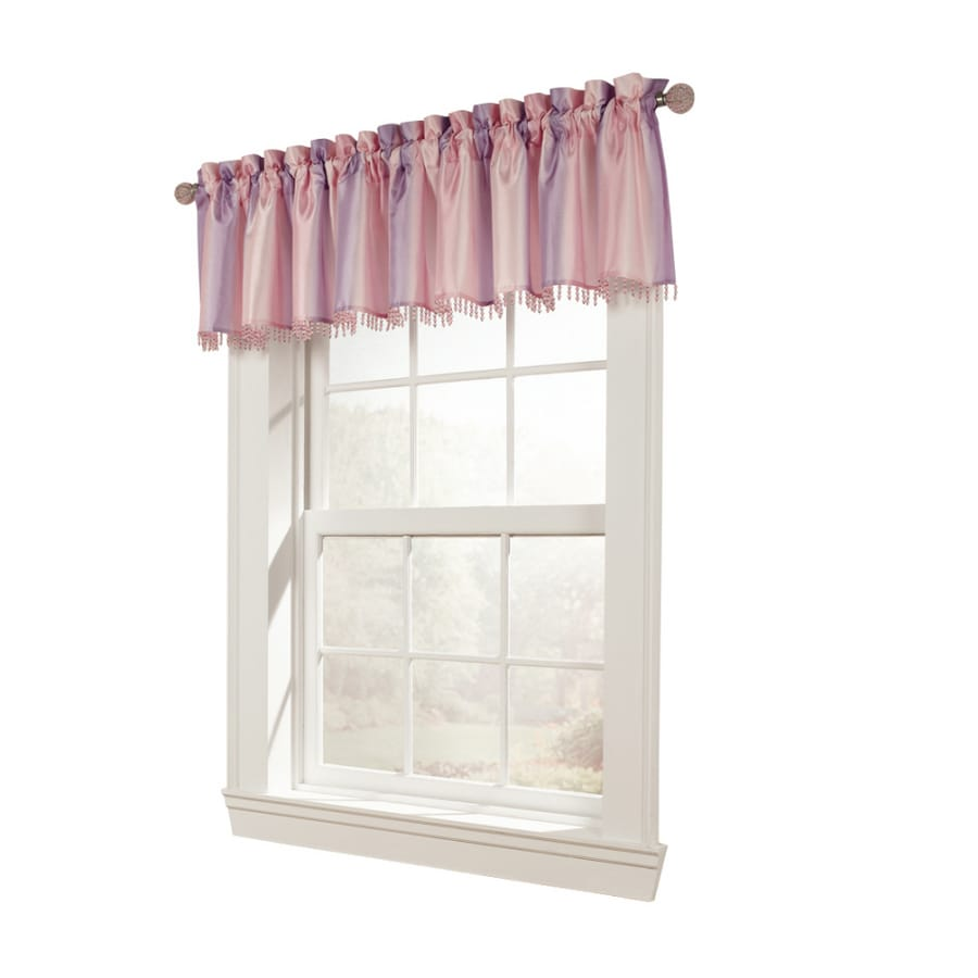 Style Selections Tori 17-in Pink Polyester Rod Pocket Valance