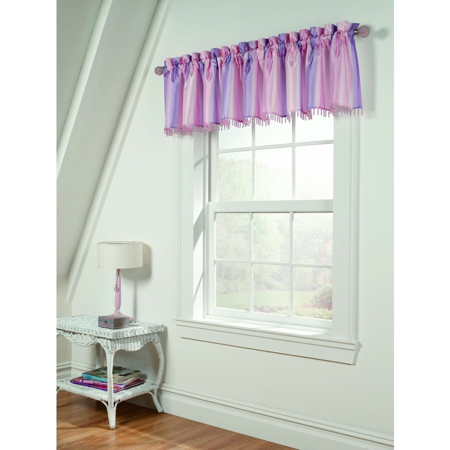 Style Selections Tori 63-in Pink Polyester Rod Pocket Light Filtering Sheer Single Curtain Panel