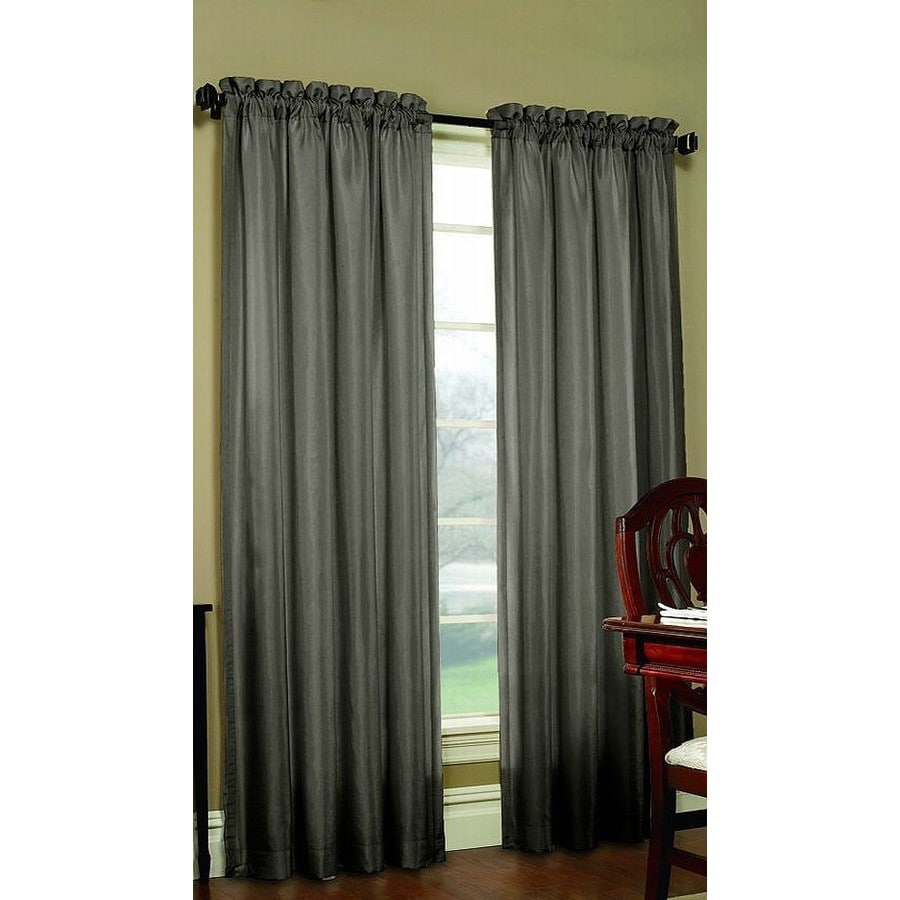 Shop allen + roth Columbia 63-in Mineral Polyester Rod Pocket Blackout Single Curtain Panel at ...