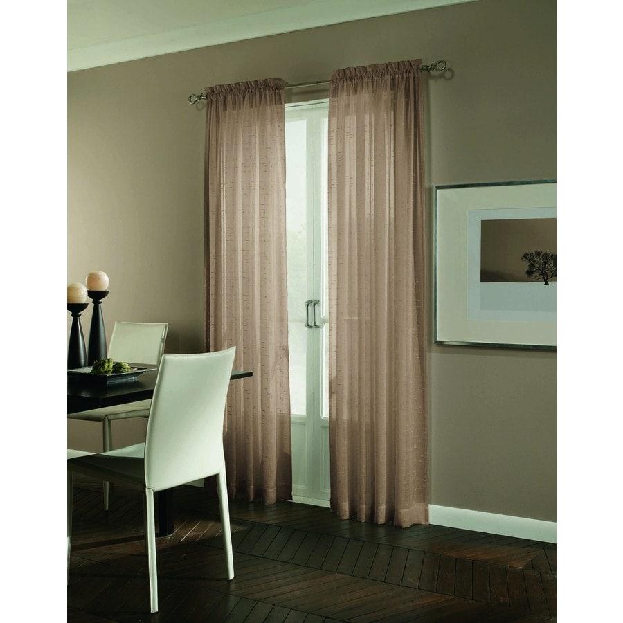 allen + roth Williamston 63-in Linen Polyester Rod Pocket Light Filtering Single Curtain Panel