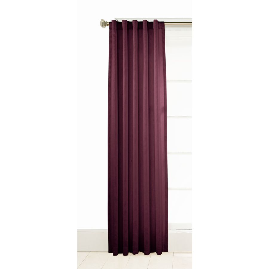Shop Style Selections Adrian 63in L Solid Violet Back Tab Curtain Panel at Lowes.com