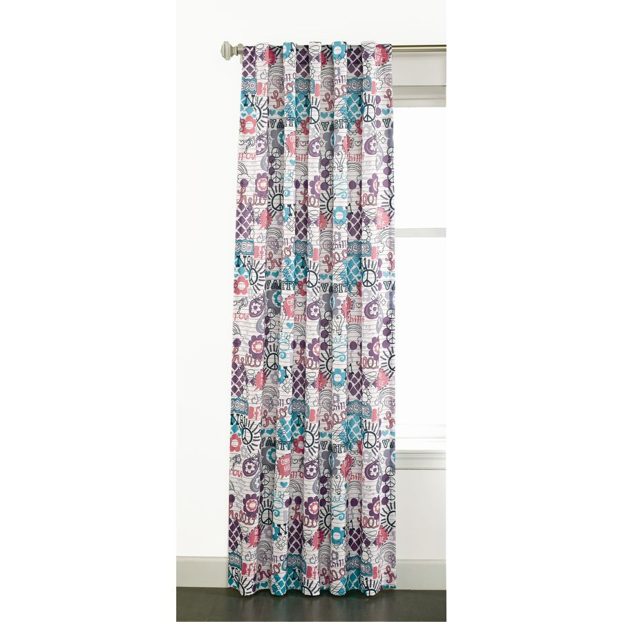 Style Selections Adrian 84-in Multi Polyester Back Tab Light Filtering Sheer Single Curtain Panel