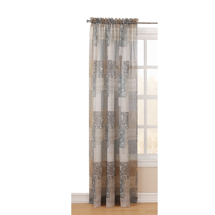 Shop Style Selections Chandra 84in Moss Polyester Rod Pocket Light Filtering Sheer Single