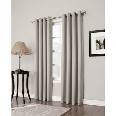 Bandley 84-in Sand Polyester Blackout Single Curtain Panel