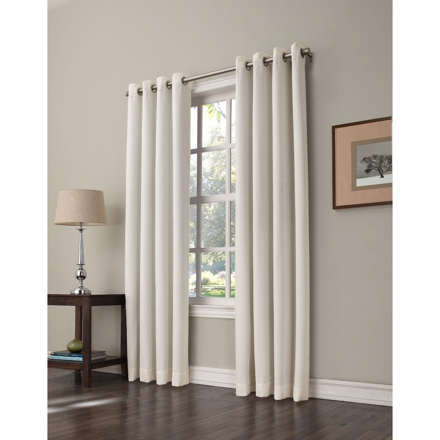 ivory products west curtains textured cotton panels elm o weave lining blackout curtain