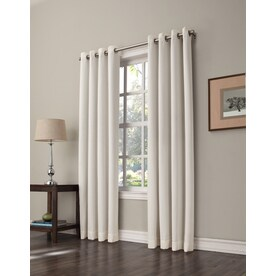 Allen + Roth Romanby Polyester Grommet Room Darkening Single Curtain Panel  Allen Roth Curtains