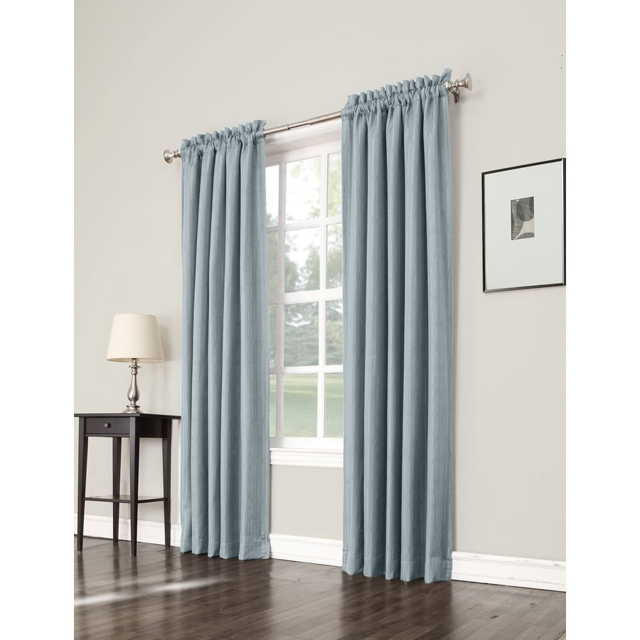 allen + roth Earnley 63-in Mineral Polyester Rod Pocket Room Darkening Single Curtain Panel