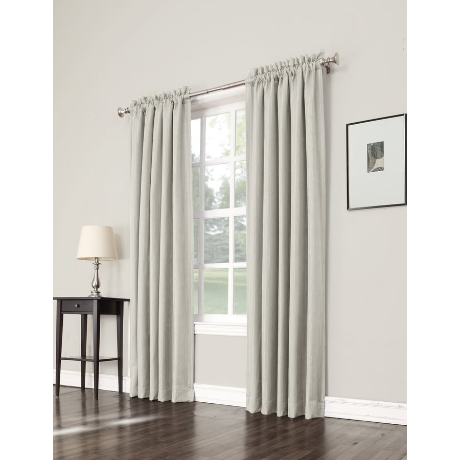 allen + roth Earnley 95-in Ivory Polyester Rod Pocket Room Darkening Single Curtain Panel