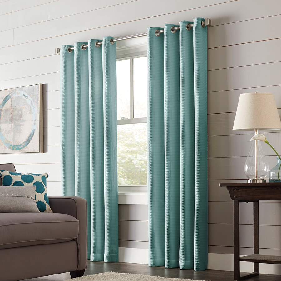 allen + roth Romanby 63-in Mineral Polyester Grommet Blackout Thermal Lined Single Curtain Panel