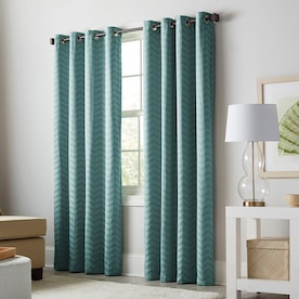 allen + roth Taventry 84-in Mineral Polyester Blackout Thermal Lined Single Curtain Panel