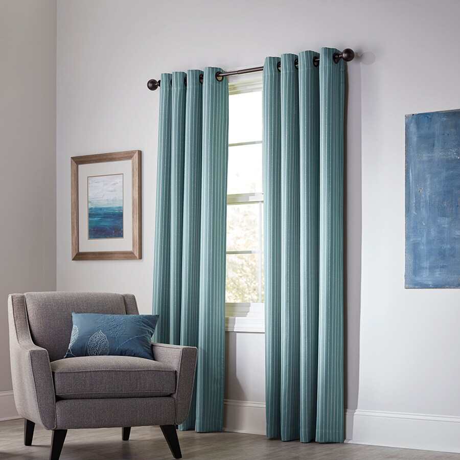 allen + roth Withern 84-in Mineral Polyester Grommet Blackout Thermal Lined Single Curtain Panel