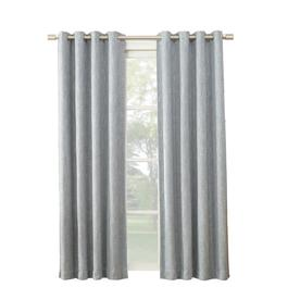 Allen Roth Pierston 84 In Dusty Blue Polyester Grommet Blackout Thermal Lined Single Curtain
