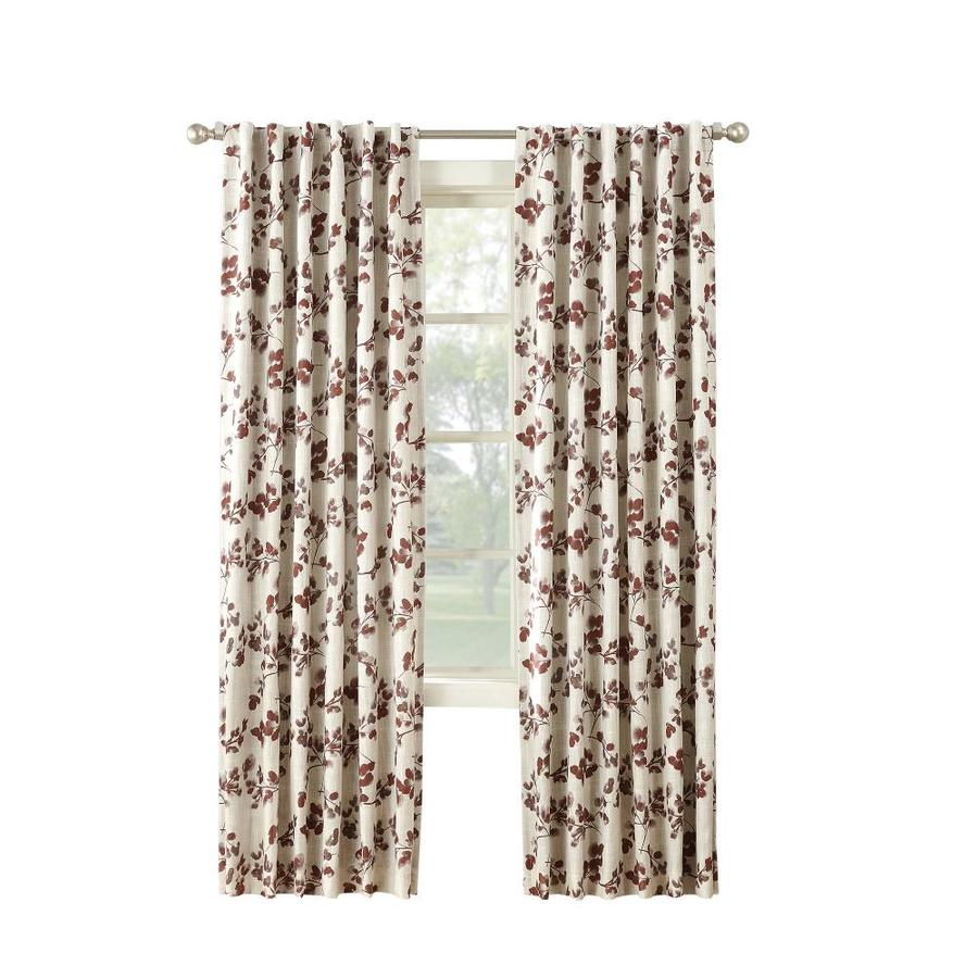 allen + roth AR Northley 84-in Spice Polyester Back Tab Room Darkening Thermal Lined Single Curtain Panel