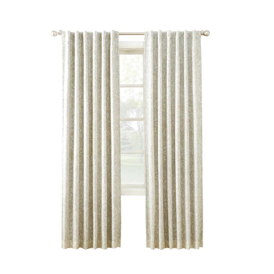 allen + roth MARBELLA 84-in Linen Polyester Back Tab Room Darkening Thermal Lined Single Curtain Panel