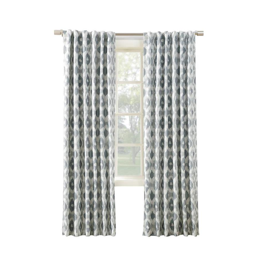 allen + roth GALTON 63-in Dusk Polyester Back Tab Blackout Thermal Lined Single Curtain Panel