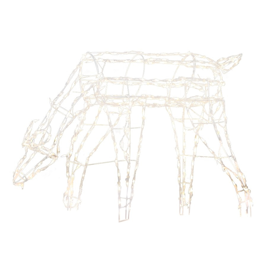 Holiday Living Pre-Lit Reindeer Sculpture with Constant Clear White Incandescent Lights