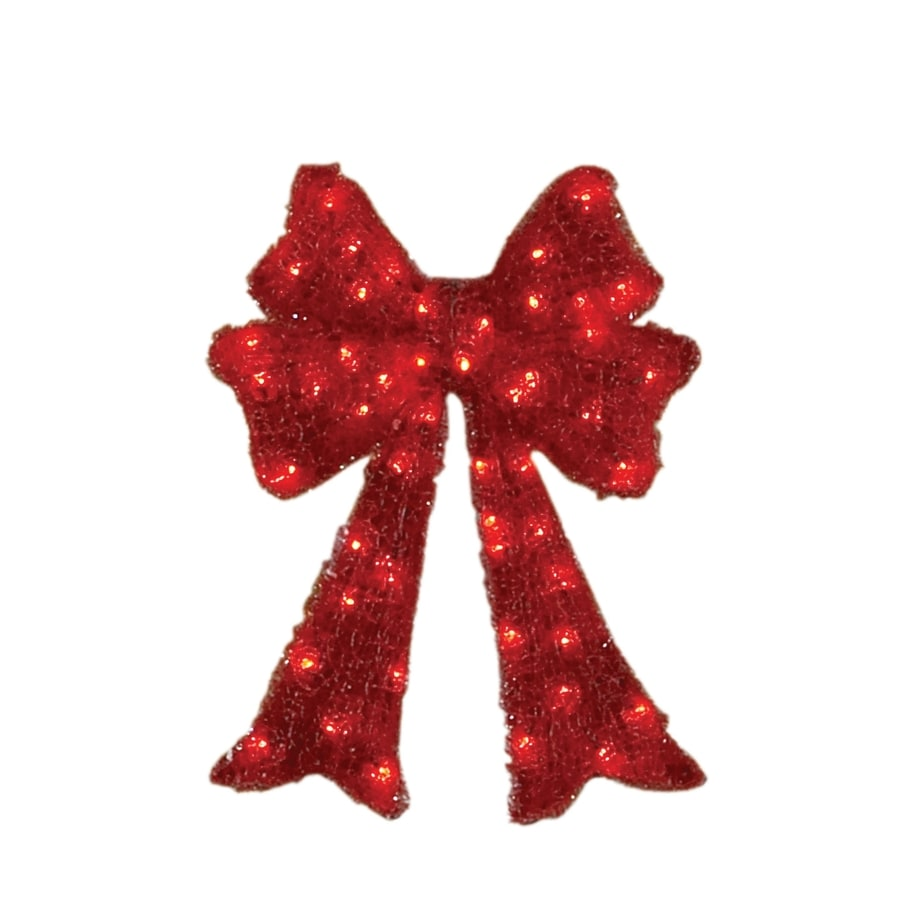 Holiday Living 36-in 50-Light LED Acrylic Christmas Bow