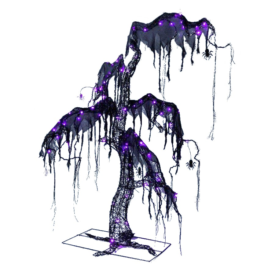 holiday living 52 ft spooky halloween tree with led multi function and multicolor lights