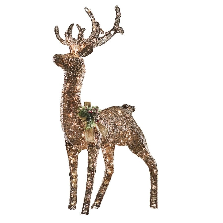 Shop Holiday Living 4.3-ft Lighted Deer Outdoor Christmas ...