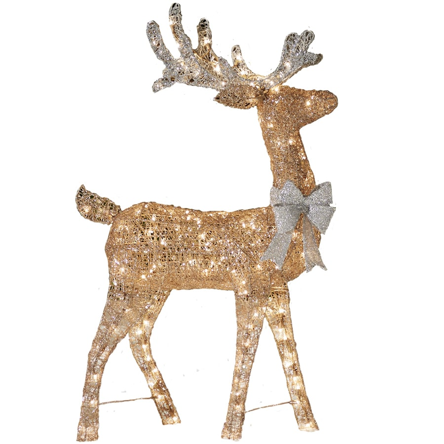 Shop Holiday Living Pre-Lit Reindeer Sculpture With