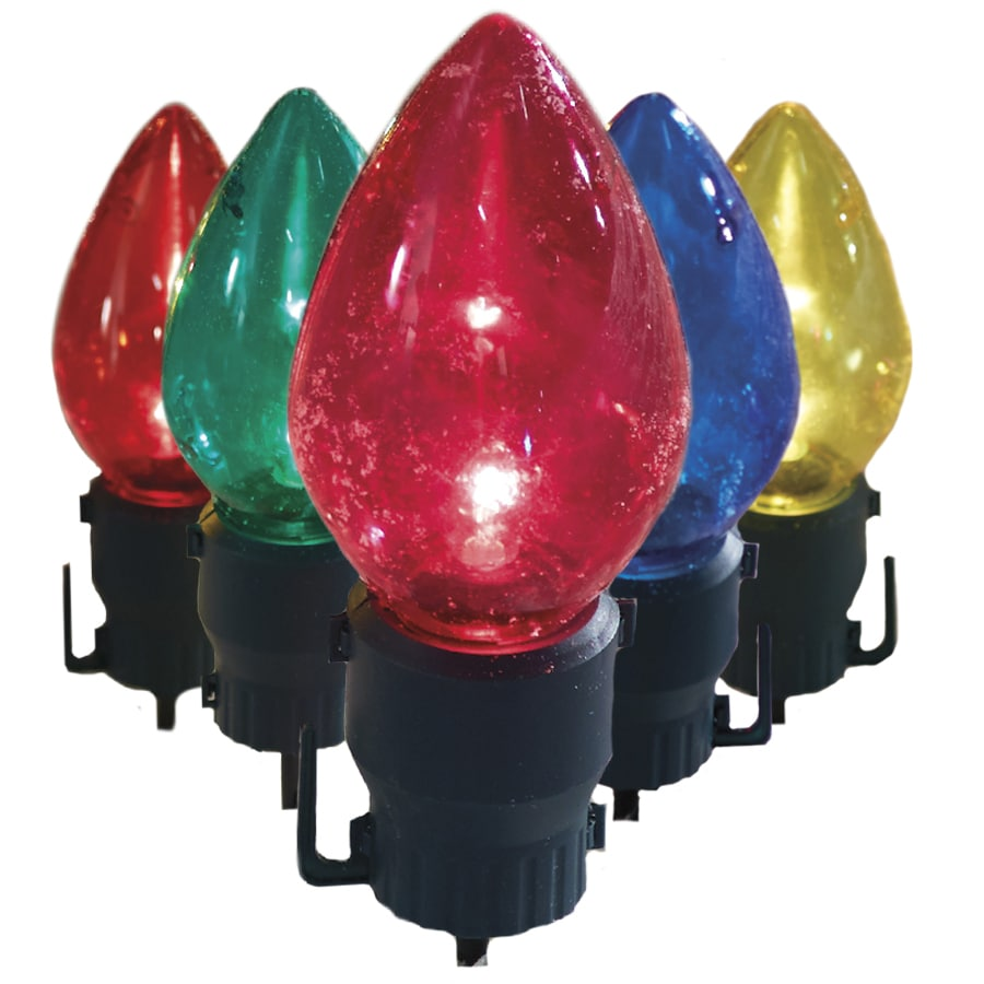 Holiday Living 5 Marker Multicolor Incandescent Electrical Outlet Ed Christmas Light Bulb Pathway Markers