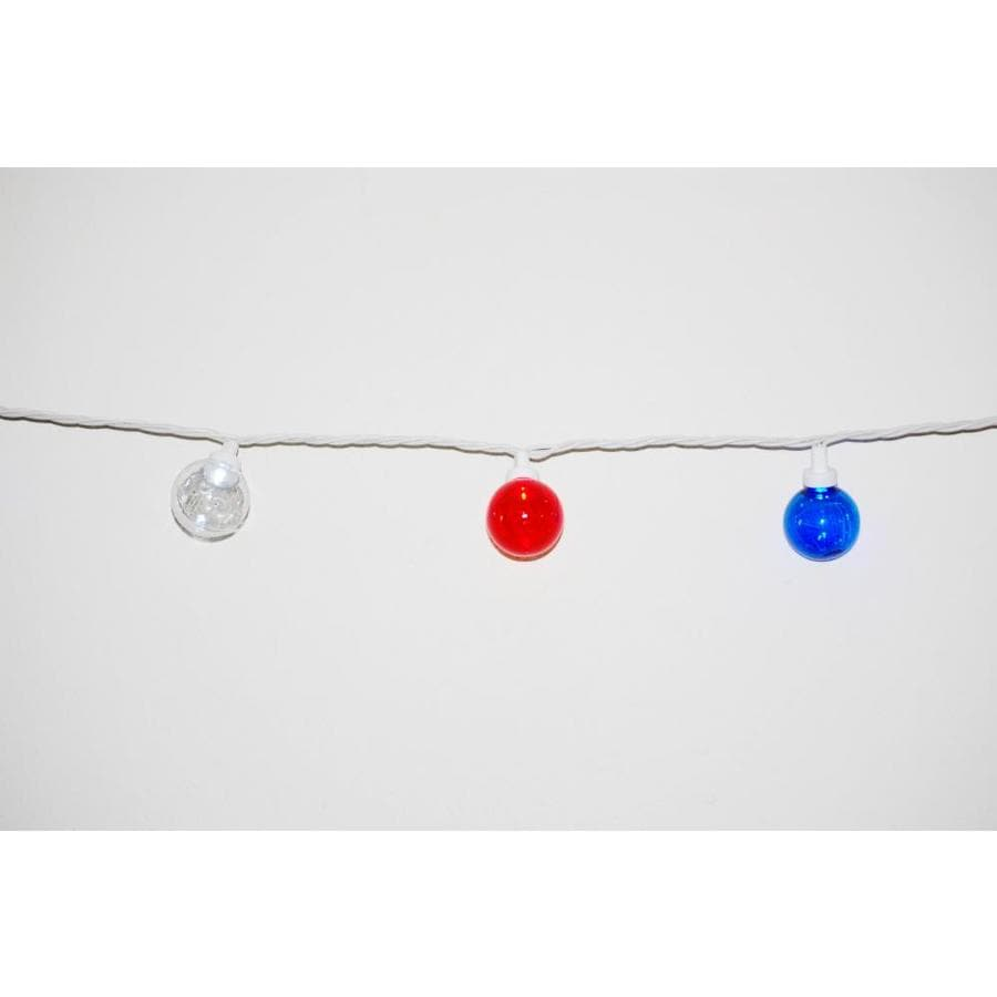 Holiday Living 12-ft Multicolor Globe LED Electrical Outlet Indoor/Outdoor Fourth of July String Lights