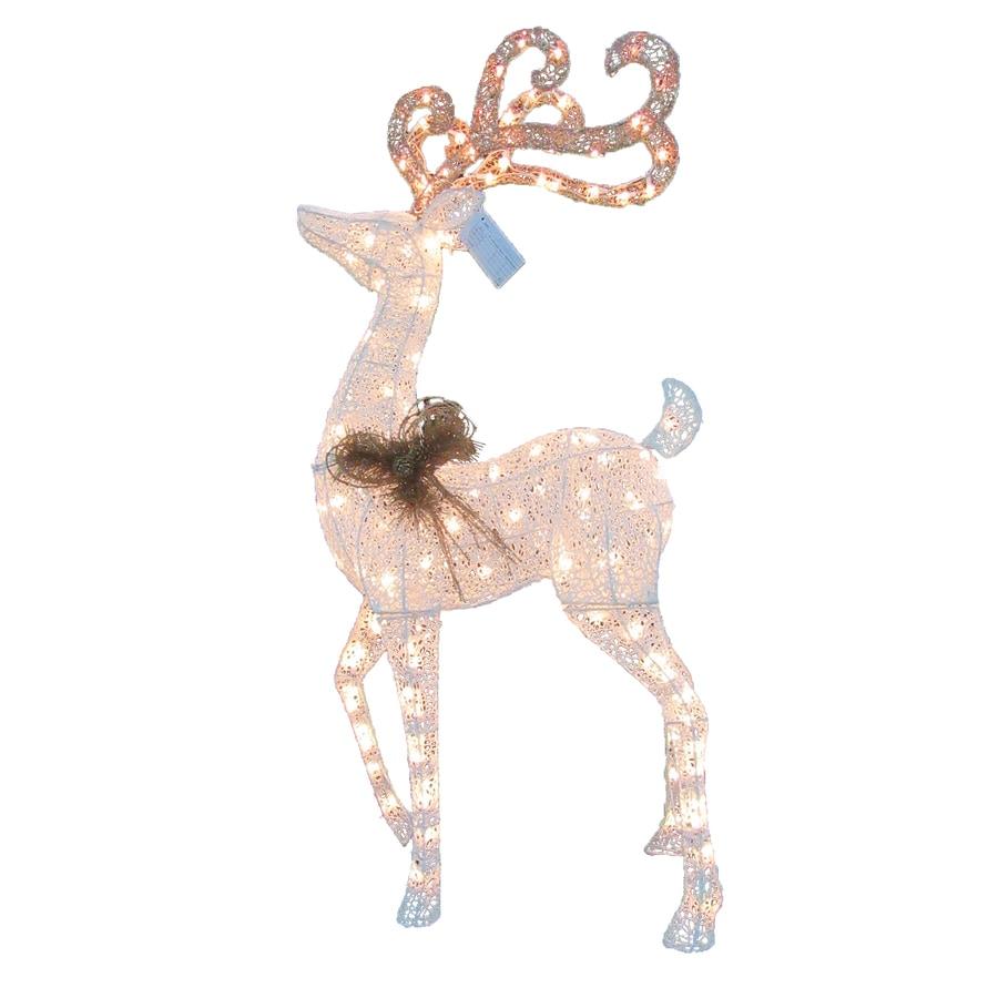 Holiday Living Pre-Lit Reindeer Sculpture Constant White Incandescent Lights