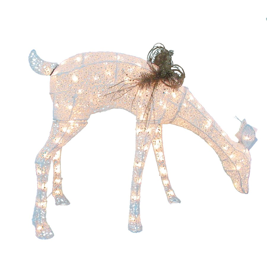 Holiday Living Pre-Lit Doe Sculpture with Constant White Incandescent Lights