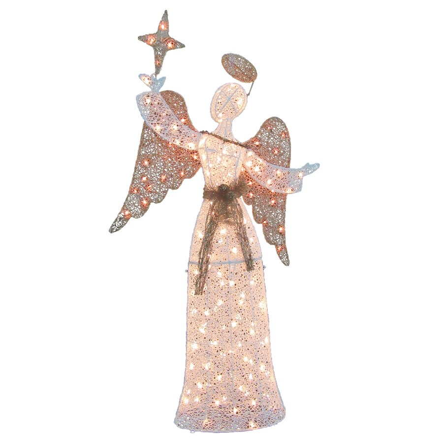 Holiday Living Pre-Lit Angel Sculpture with Constant Cool White White Incandescent Lights
